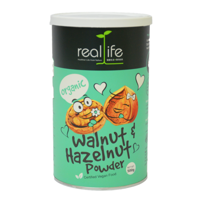 Real Life Organic Walnut & Hazelnut Powder (500G)